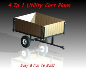 Utility cart plans plans diy free download free small shed for Small trailer plans free